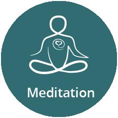 Meditation ikon, menneske