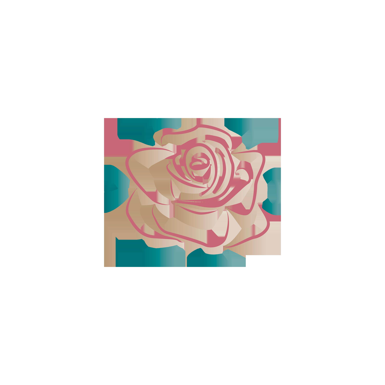 Logo symbol rose ikon